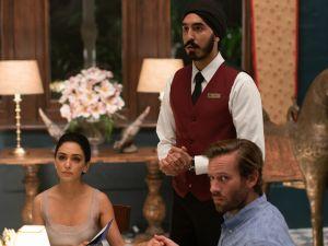 Nazanin Boniadi, Dev Patel and Armie Hammer in Hotel Mumbai.