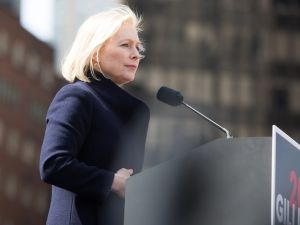 Sen. Kirsten Gillibrand announces her presidential candidacy in New York on March 24, 2019.