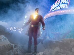 Shazam! box office prediction tracking DCU
