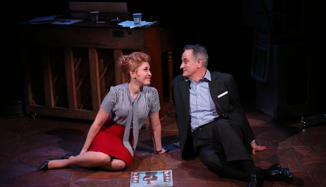 Andréa Burns and Mark Lotito in Smart Blonde.