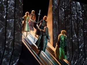 Gods ascend to their castle Valhalla in Wagner's 'Ring' at the Met.