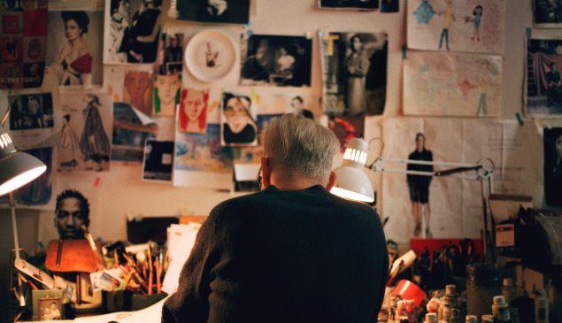 Richard Haines in his studio.