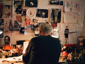 Richard Haines in his studio.