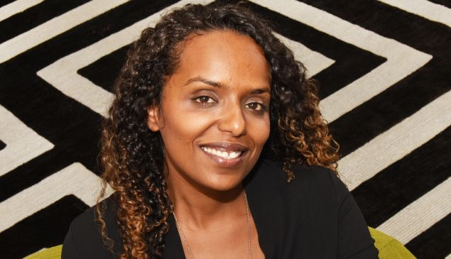 The co-founder and CEO of AptDeco, Reham Fagiri, originally from Sudan, at the Hearst Tower office.