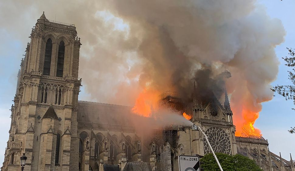 Notre Dame Fire Fuels Conspiracy Theories About the Flames' Origin
