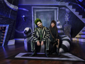 Alex Brightman and Sophia Anne Caruso in Beetlejuice.