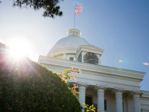 The Alabama State Capitol building is seen on Tuesday, May 14, 2019 in Montgomery, Alabama.