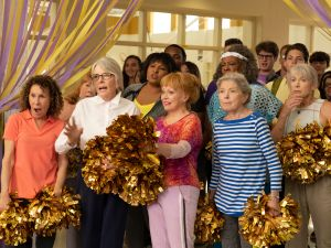 Rhea Perlman, Diane Keaton, Jacki Weaver, Phyllis Somerville, Patricia French, Pam Grier, Carol Sutton and Ginny Maccoll in Poms.