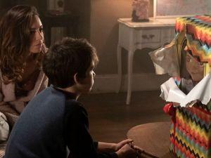 Aubrey Plaza and Gabriel Bateman in Child's Play.