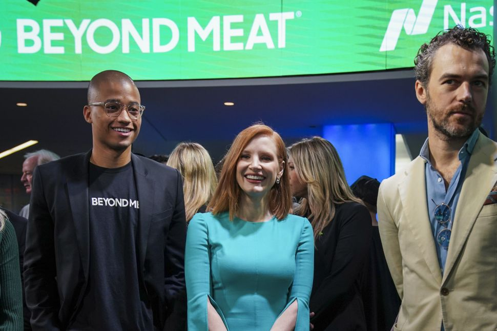 Jessica Chastain-Backed Beyond Meat Is About to Put Vegan Hype Into Hard Numbers
