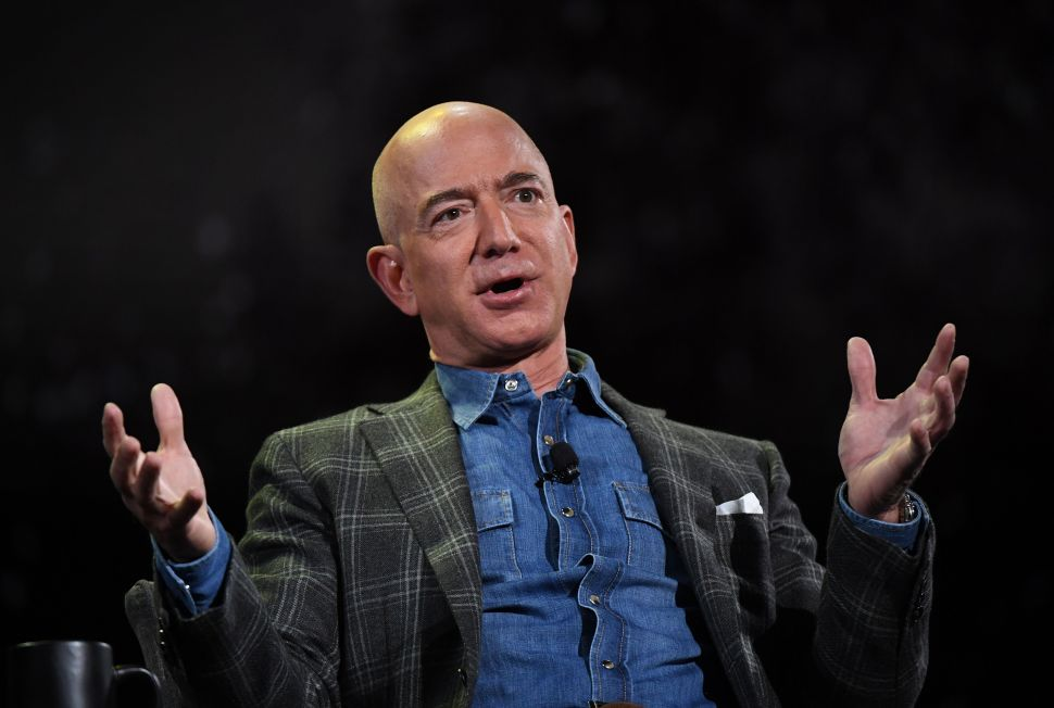 Jeff Bezos Gets Interrupted by a Protester During Space Program Discussion