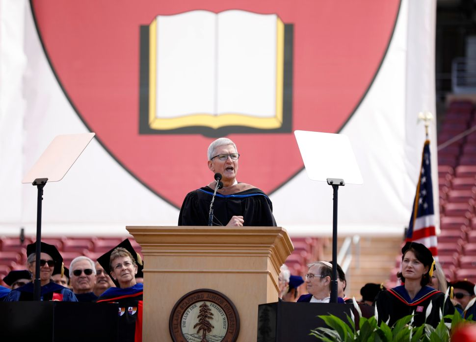 Tim Cook Throws Shade at Theranos in Stanford Commencement Speech