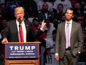 U.S. President Donald Trump and his son Donald Trump Jr.