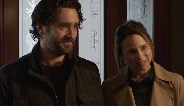 Allan Hawco and Suzanne Clément in The Child Remains.