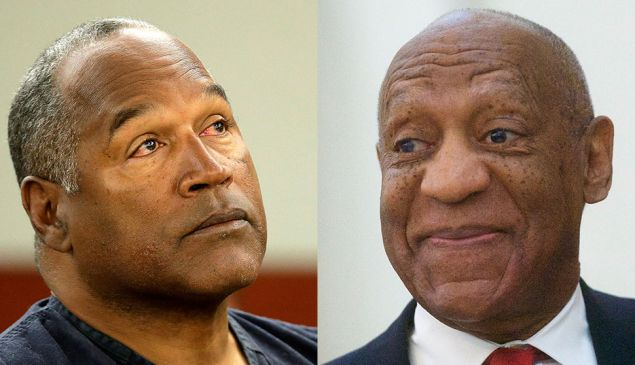 O.J. Simpson and Bill Cosby