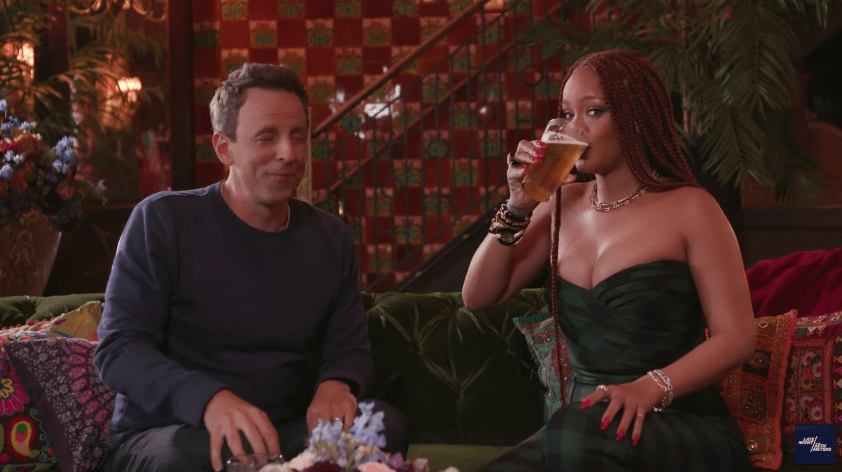 Rihanna and Seth Meyers Make for Great Day Drinking Buddies