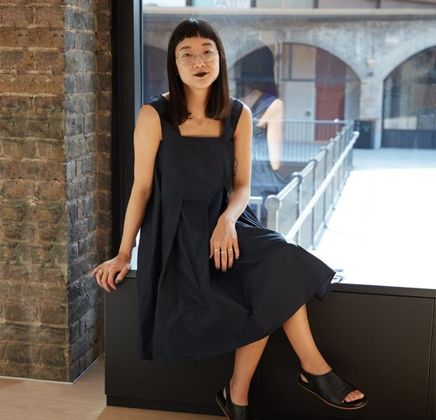 Christine Sun Kim at COS in Coal Drops Yard, London for her commission for Art Night 2019.