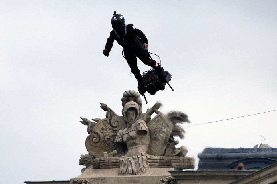 France's 'Flying Soldier' Steals the Spotlight With an Actual Hoverboard