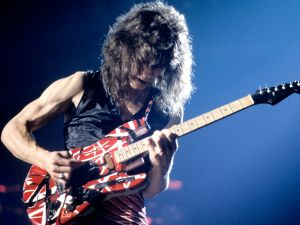 Eddie Van Halen from Van Halen performs during their 1980 U.S. tour.
