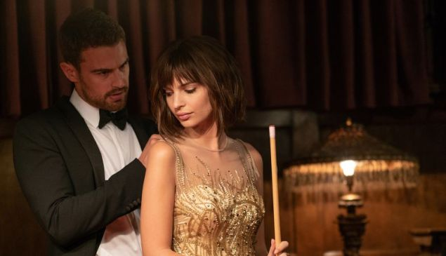 Theo James and Emily Ratajkowski Lying and Stealing.
