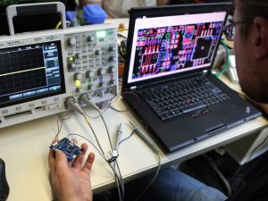 Using nothing more than an oscilloscope and a laptop, hackers can unlock an ATM.