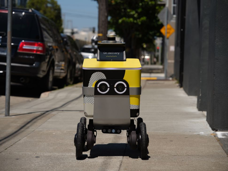 The Next Time You Order From Postmates, This Adorable Robot May Show Up at Your Door