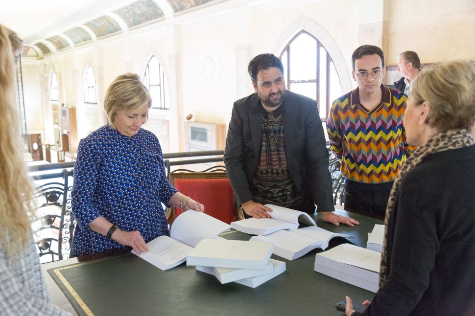 Hillary Clinton Dropped in to Read Her Own Emails at a Venice Art Exhibition