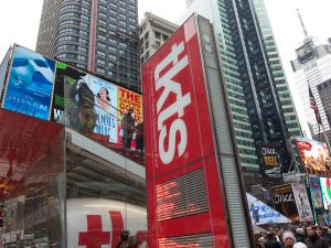 TKTS ticket booth in Times Square