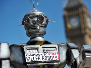 The concerns over AI killer robots wreaking havoc on our civilization has gotten to the point where an organization has been formed called The Campaign to Stop Killer Robots.