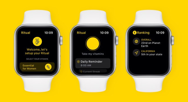 Vitamin Delivery Service Ritual Launches Apple Watch App to Help Users Establish Habits