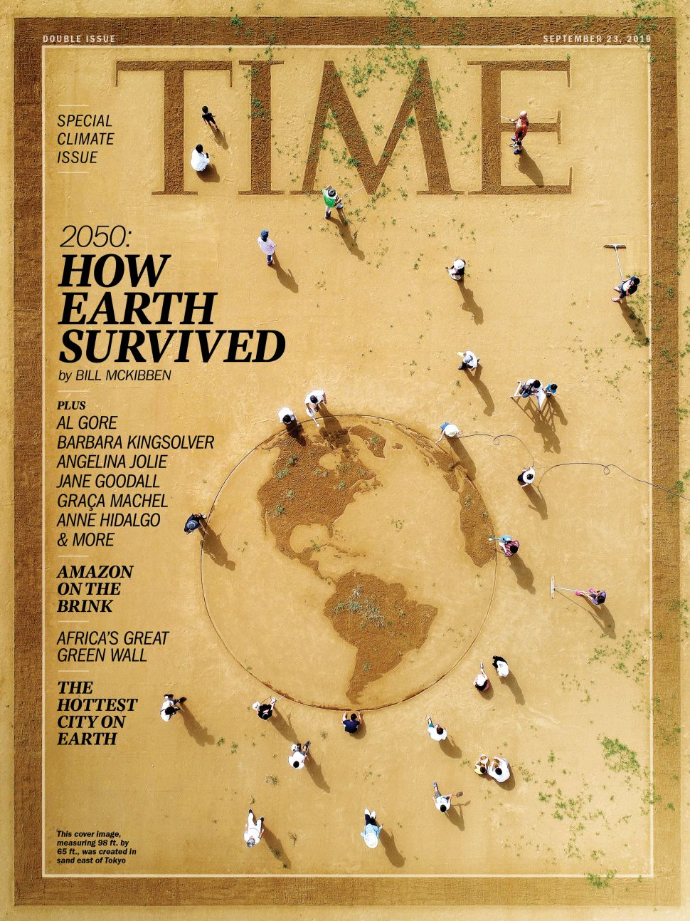How Toshihiko Hosaka Made the Image on 'Time' Magazine's Climate Change Cover Out of Sand