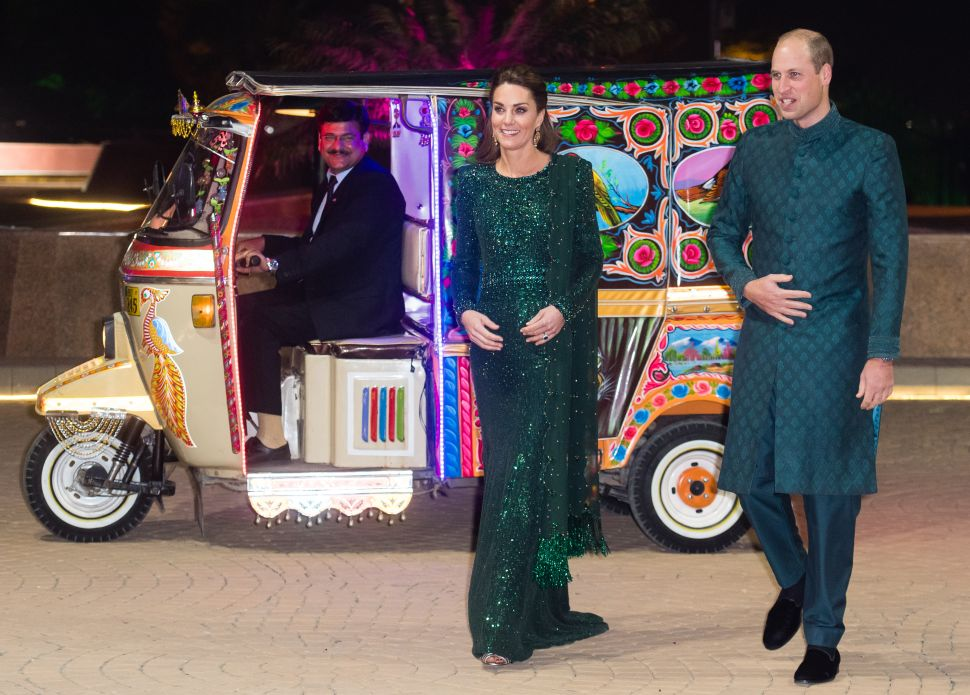 Prince William and Kate Ended Their First Full Day in Pakistan With a Glitzy Reception and a Rickshaw