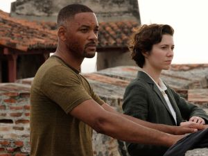 Will Smith and Mary Elizabeth Winstead in Gemini Man.