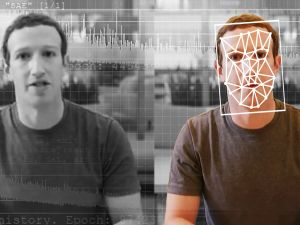 A comparison of an original and deepfake video of Facebook CEO Mark Zuckerberg.