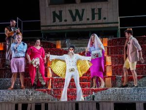 The cast of 'Così Fan Tutte' as Juilliard prepares for a marriage officiated by an Elvis impersonator, as one does.