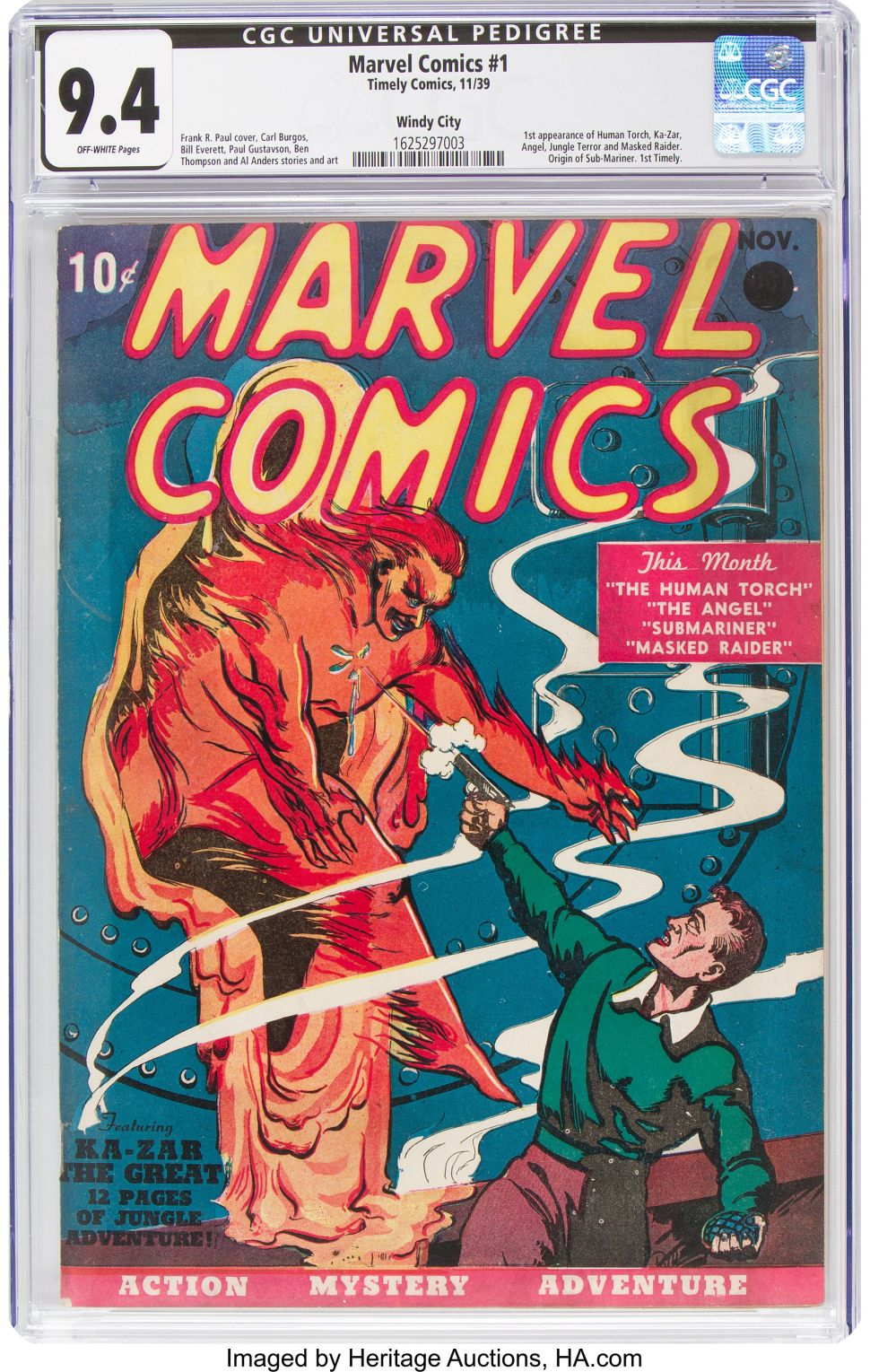 The First-Ever Marvel Comic Book Has Sold at Auction for $1.26 Million