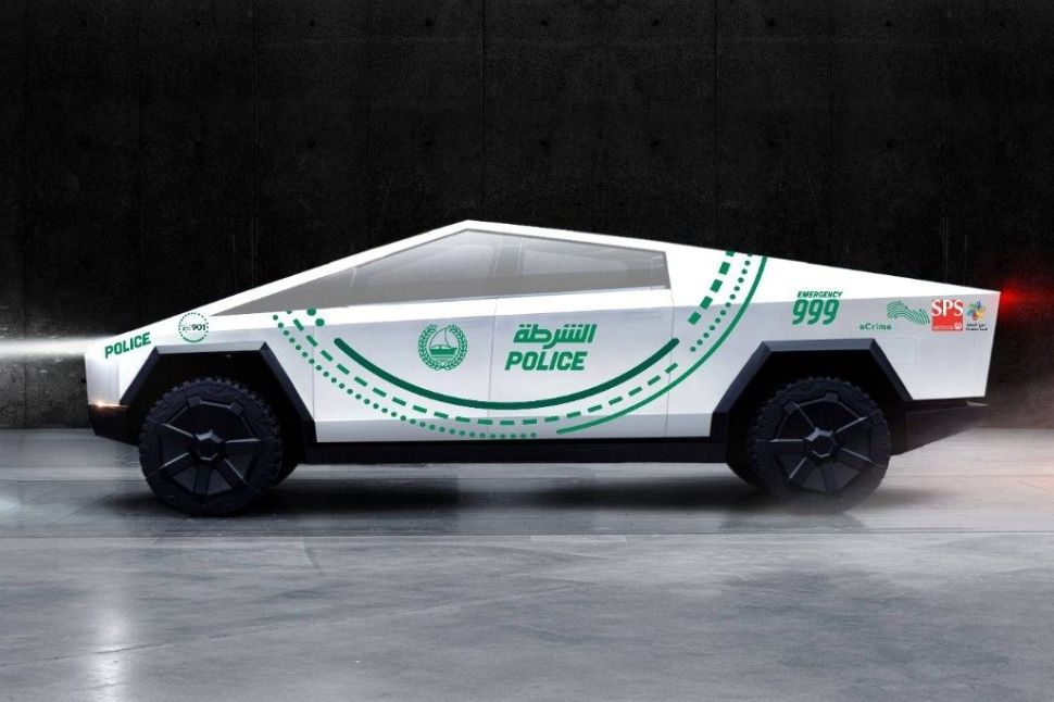 Dubai Police Want to Chase Bad Guys in Tesla's Cybertruck by 2020—But There's a Problem