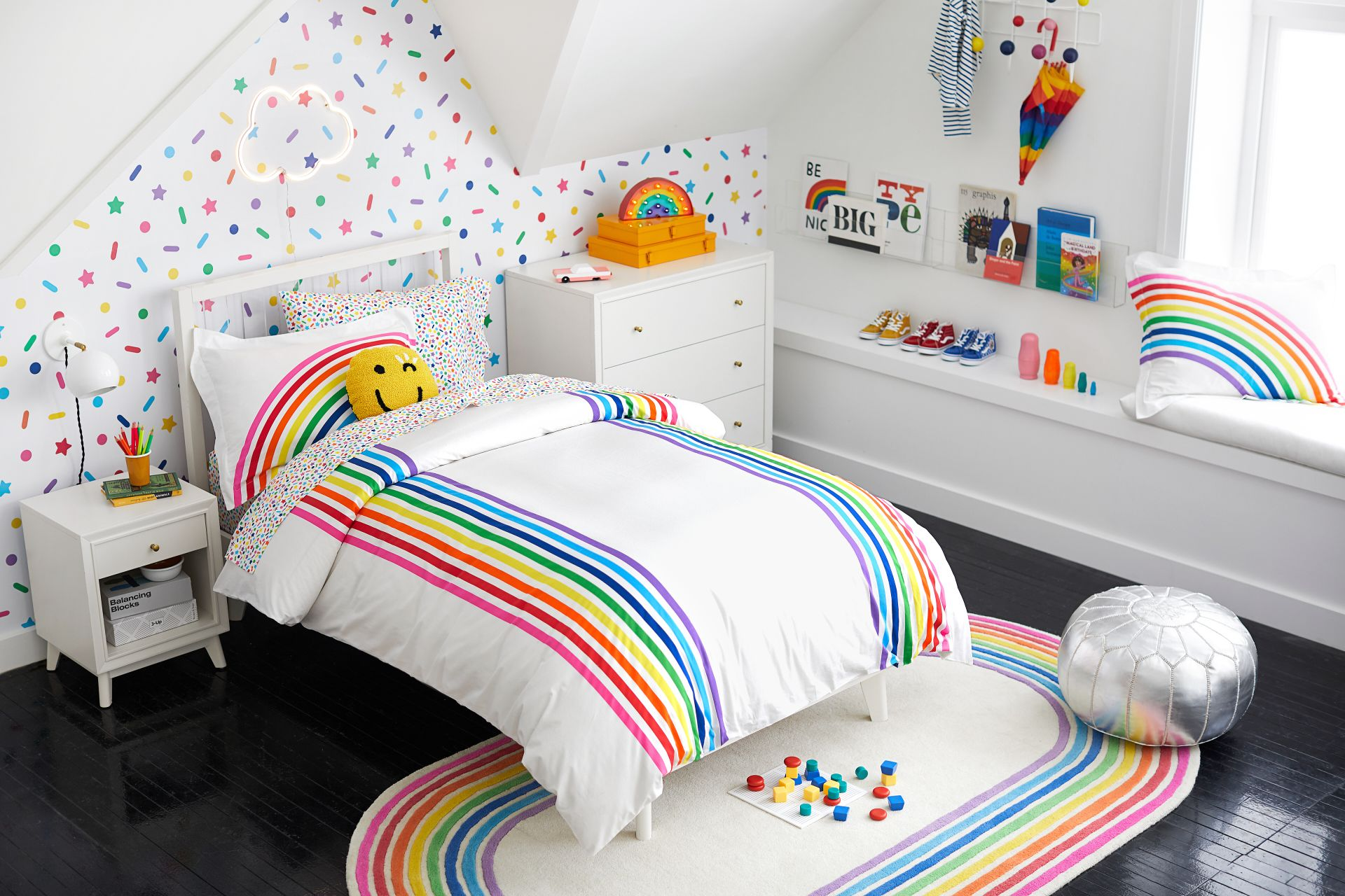 Flour Shop And Pottery Barn Launch Colorful Rainbow Home