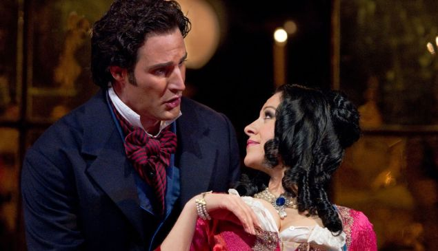 James Valenti and Angela Gheorghiu in 'La Traviata' at the Met.