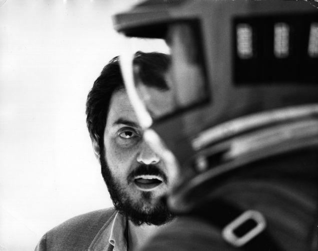 Stanley Kubrick on the set of <em>2001: A Space Odyssey</em>.