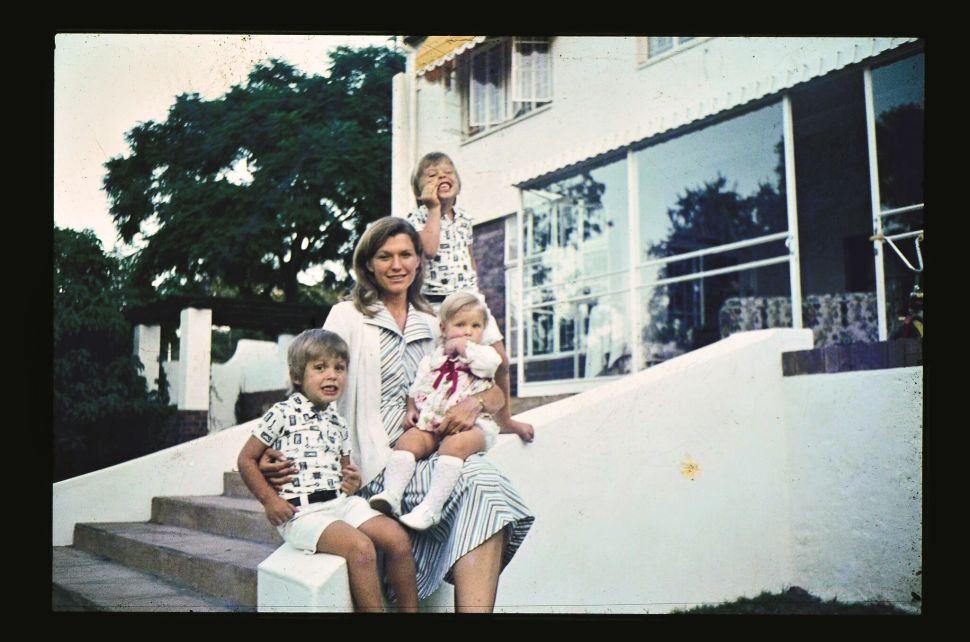 Maye Musk with her three children in 1976 in Pretoria, South Africa.