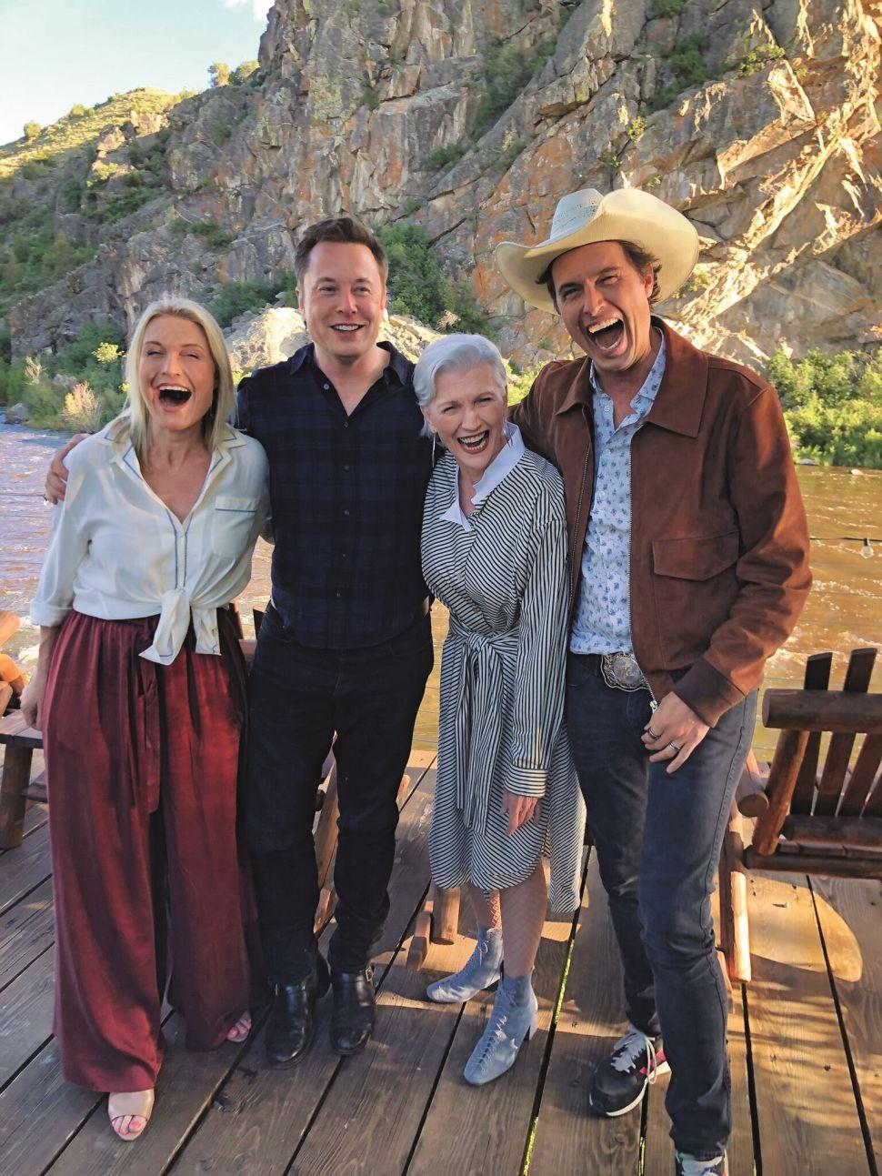 Tosca, Elon, Maye and Kimbal in 2019.