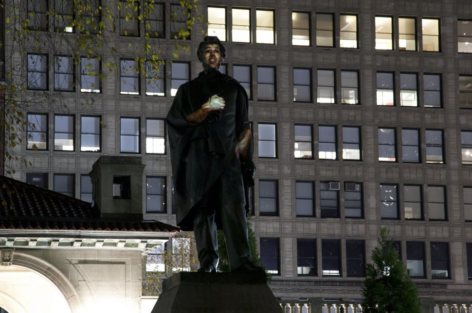 How a Madison Square Park Monument Was Transformed to Honor Refugees of War