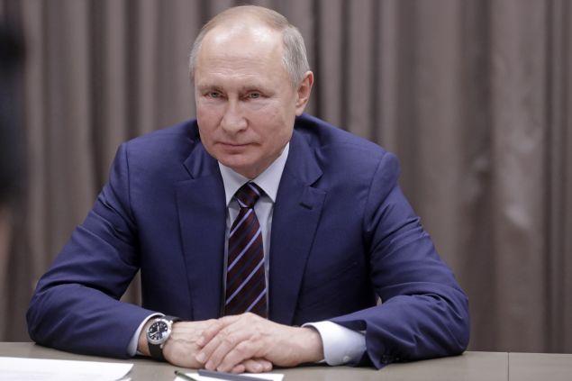 Russia's President Vladimir Putin at Novo-Ogarevo residence.
