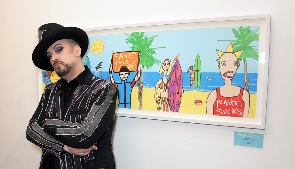 Boy George Debuts Public Artwork for Project Zero Environmental Campaign