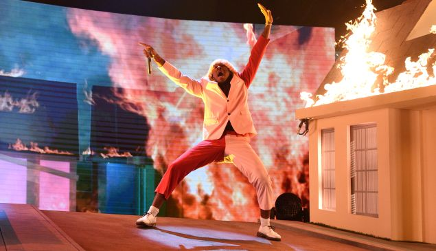 Tyler, The Creator sets the house ablaze