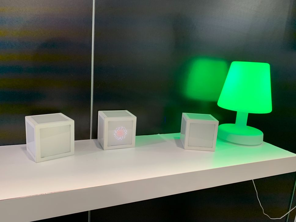 NextMind demo desk at CES 2020.