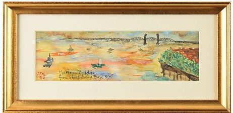 A watercolor and gouache made by JFK in 1960.