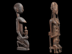 Sculptures featured in the ' Sahel: Art and Empires on the Shores of the Sahara' exhibition.