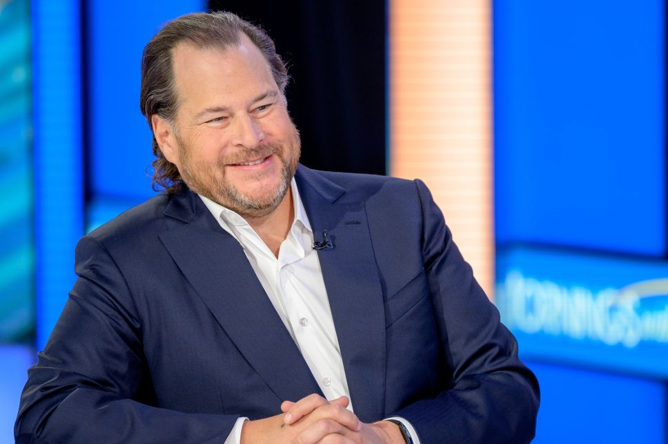 Salesforce CEO Marc Benioff Spreads His 'Gospel of Wealth' at CES 2020